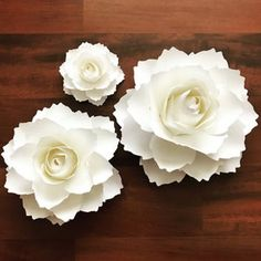 PDF Tiny Rose 3 Paper Flower 6 Different sizes Trace and   Etsy Paper Flower Wall, Giant Paper Flowers, Tiny Flowers, Flower Petals, Fabric Flowers, Flower Petal Template, Leaf Template, Flower Tutorial, Bow Tutorial