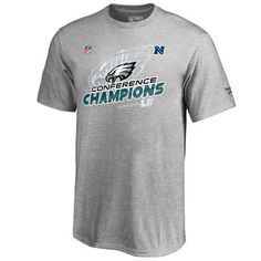 Youth Philadelphia Eagles NFL Pro Line by Fanatics Branded Heather Gray 2017 NFC Champions Trophy Collection Locker Room T-Shirt