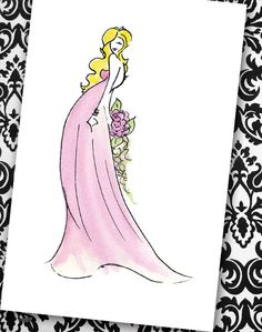 Bridesmaid by gabrielleredford on Etsy, $4.00