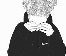 Inspiring image art, black and white, draw, drawing, hairs, hairstyle, nike, outline, outlines, First Set on Favimcom #3171676 by helena888 - Resolution 500x513px - Find the image to your taste