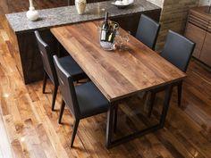 FLYMEe FactoryDINING TABLE W150/フライミーファクトリーダイニングテーブル 幅150 f58101(ウォールナット天板) - 拡大画像