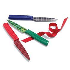 Kuhn Rikon Plaid Paring Knives   Sur La Table
