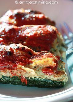 Zucchine Ripiene di Carne in Salsa di Pomodoro - Zucchini Stuffed with Meat in Tomato Sauce