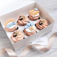 58 Ideas For Cupcakes Fondant Ideas Sweets Deco Cupcake, Cupcake Cake Designs, Cupcake Cakes, Pretty Cakes, Cute Cakes, Cupcake Recipes, Dessert Recipes, Fondant Cake Toppers, Cupcake Toppers