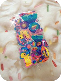 Vintage Lisa Frank 90s Glitter iPhone 4 4s 5 Cover Case by CANDYPANTSclothing, $19.00