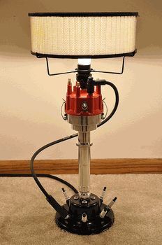 Carguygarage Billet Aluminum Distributor Lamp Car Part Furniture Automotive Garage