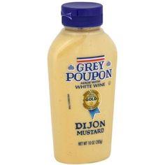 Grey Poupon Dijon Mustard Made With White Wine 10 Oz Bottle. Baking Ingredients, Salad Dressing, Original Recipe, White Wine, Gourmet Recipes, Mustard, Bottle, Grey, Food