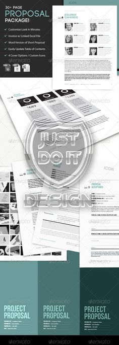Icon Proposal Template w\/ Invoice \ Contract Proposal templates - business proposals templates