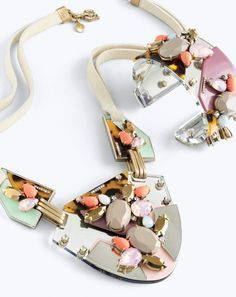 J.Crew women's techtonic necklace and techtonic bracelet. To preorder call 800 261 7422 or email verypersonalstylist@jcrew.com.