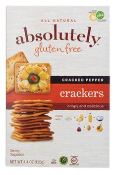 Absolutely Gluten Free Cracked Pepper Crackers http://www.gfguys.com