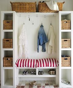 Our mudroom storage design hack shows you how to easily create a functional and family-friendly mudroom with plenty of storage. Decor, Home Organization, Room, Mudroom, Storage Design, Coat Closet Organization, Home Decor, Design Hack, Mud Room Storage
