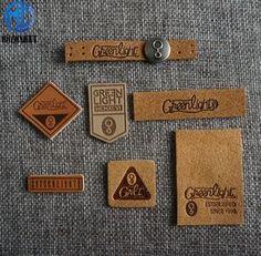 individual brand logo leather label Source by areyouhis Luxury Logo Design, Vintage Logo Design, Tag Design, Label Design, Leather Label, Custom Leather, Handmade Leather, Leather Bags, Denim Branding