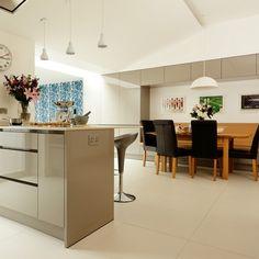 Contemporary grey kitchen-diner | Modern decorating ideas | Beautiful Kitchens | Housetohome.co.uk