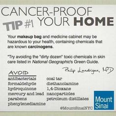Cancer-proof your home. Living Chemical free is easier than you think http://godsabundanthealth.com
