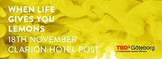 November 18th 2014 - TEDxGoteborg in Clarion Hotel Post. Check out the program on tedxgoteborg.com! #Göteborg #Gothenburg #TED #TEDxGoteborg