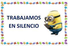 CARTELES NORMAS DE CLASE Minion Theme, Cooperative Learning, Classroom Themes, Ideas Para, Minions, Behavior, Spanish, Language, Teacher
