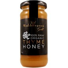 Wedderspoon Gold Organic Raw Thyme Honey.