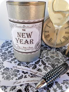 "Start a New Year's Tradition ~The ""New Year in a Can"" Tutorial    Printable label updated for 2013!"