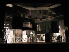 Scale model for 'His Girl Friday' (2003) National Theatre, London. Designer: Bob Crowley. Director: Jack O'Brien