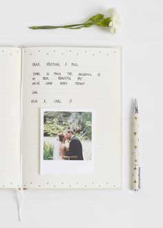 Wedding Guest Book Idea: If you want lots of space for people to write their well wishes, our Guest Book Lined is perfect for helping your guests put pen to paper.