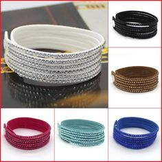 New Fashion 6 Layer Leather Bracelet! Factory Discount Prices, Charm Bracelet!1 Free Shipping!13 Color Choices € 2,09