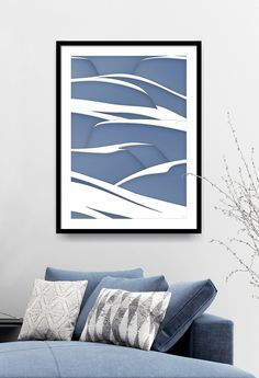 Minimalist art prints can be the perfect wall decoration for many popular interior design styles like mid-century modern or Scandinavian. Click through for more images available as high quality acrylic, metal, canvas and framed print. Blue And White Living Room, Wall Art Prints, Framed Prints, Interior Ideas, Interior Design, White Wall Art, Tree Wall Art, Abstract Nature, Winter Landscape