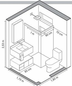 Agencement Cuisine : Tiny homes have to make efficient use of space and that includes the bathrooms. A tiny house bathroom has to accommodate a toilet a bath and/or shower and a sink in a very small amount of space. Tiny Bathrooms, Tiny House Bathroom, Bathroom Closet, Master Bathrooms, Bathroom Mirrors, Bathroom Cabinets, Budget Bathroom, Beautiful Bathrooms, Master Baths