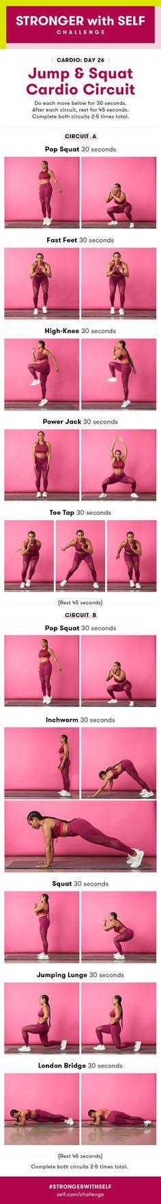 Jump and Squat Cardio Circuit