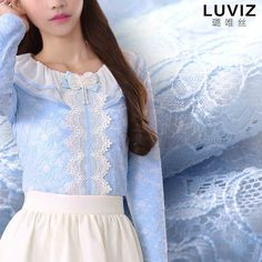 Lu Wei LUVIZ early spring 2015 new sweet flounced silk beaded decorative bow lace shirt 7668-tmall.com Lynx