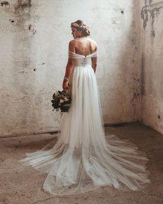 42 Off The Shoulder Wedding Dresses To See ❤ off the shoulder wedding dresses a line greek style becky van straalen #weddingforward #wedding #bride