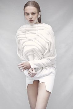 Sculptural Rose Cocoon Dress Elodie Laurent