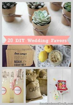 20 DIY Wedding Favor