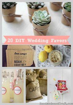20 DIY Wedding Favors - simply chic and cheap...lol! #diy #wedding