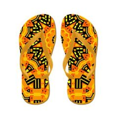 Autumn Parade Flip Flops. $17.21
