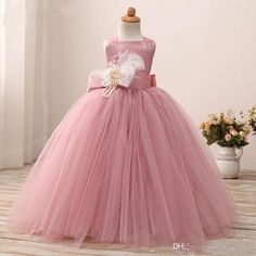 Blusher Pink 2017 Birthday Dress For Little Girls Halter Tutu Gown Flower Girl Dresses With Sash Toddler Pageant Gowns Custom Quality Vintage Lace Flower Girl Dresses White Flower Girl Dress From Aiyawedding, $105.98| Dhgate.Com