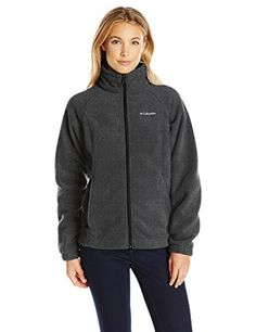 Columbia Womens Petite Benton Springs Full Zip Charcoal Heather Small >>> Details can be found by clicking on the image.