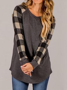 #stripes #tee #longsleeve #casual #blouse #color #womensfashion #INXCY #pullover #shirt