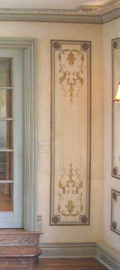 Wall stencil Versailles Side Panel LG by CuttingEdgeStencils
