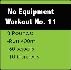 No Equipment CrossFit Workout No. 11