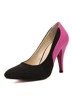 Color Block Pointed Toe Pumps