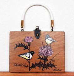 Enid Collins Thistle Stop Box Bag by niwotARTgallery on Etsy, $110.00