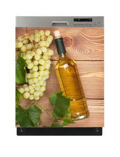 Naklejka na zmywarkę - Aromatyczne białe wino 6516