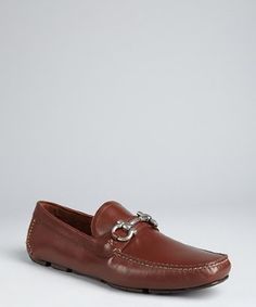 Salvatore Ferragamo brown leather 'Parigi' buckle loafers | BLUEFLY up to 70% off designer brands at bluefly.com