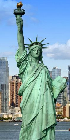 30 Famous Landmarks That Capture The True Spirit Of New York. Lady Liberty, one of the most popular tourist attraction in New York, as the statue is otherwise called was given to America as a gift from France to symbolize their friendship and was dedicated in 1886.