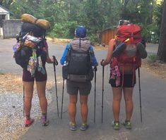 PCT Hikers show off their packs