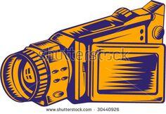Video recorder woodcut style  #videorecorder #woodcut #illustration