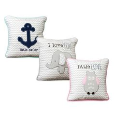 Wendy Bellissimo™ Mix & Match Chevron Throw Pillow - buybuyBaby.com