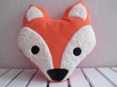Schnittmuster für Fuchs Kissen / cute fox sewing pattern, diy by Valentina-Stoffe via DaWanda.com