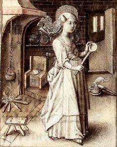het dagelijks leven in het middeleeuws Gasthuis Ten Bunderen in Moorslede - de bereiding van het eten