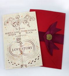 Harry Potter wedding invitations I found on etsy. This could be the most adorable and romantic thing inspired by the movie.